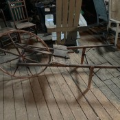 A piece of wooden equipment.
