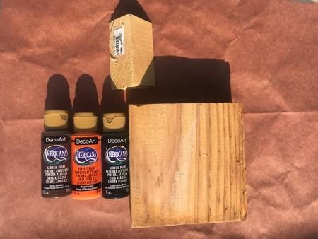 Wood Scrap Pumpkins - supplies