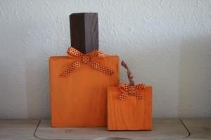 Wood Scrap Pumpkins - finished pumpkins