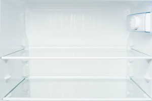 An empty and clean fridge.