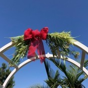 Swag Decoration For Less - swag on garden arch