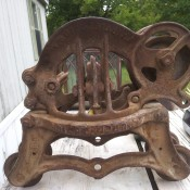 Is This a Louden Hay Trolley? - piece of rusty iron equipment