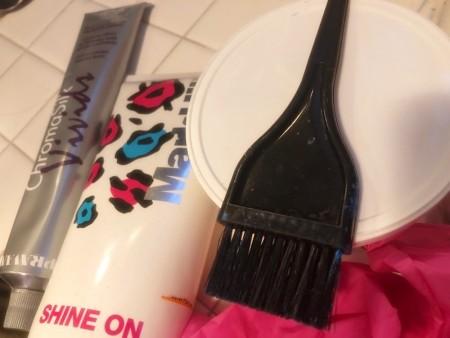 Making Pastel Hair Dyes - supplies