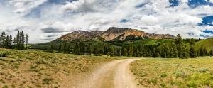 A mountain view in Idaho.