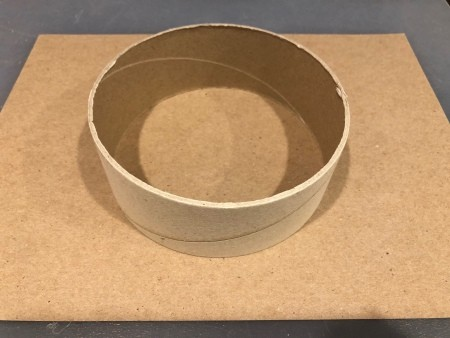 Circle Faux Flower Planter - trace around a circular cardboard tube onto the cardstock