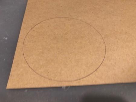 Circle Faux Flower Planter - circle on cardstock