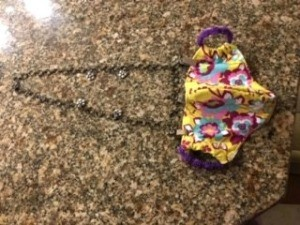 Mask Chain Holder - finished mask chain holder