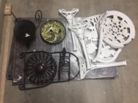 Bug Sculpture - chair parts and other miscellaneous metal parts