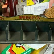 Value of a Wrigley's Chewing Gum 5 Cent Display? - old metal display bin