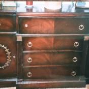 A vintage wooden sideboard.