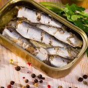 A tin of canned sardines.
