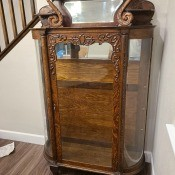 An antique china cabinet.