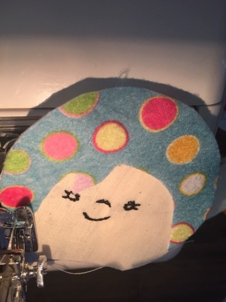 Scrappy Funky Doll - pin and sew on hair