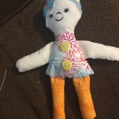 Scrappy Funky Doll - finished doll