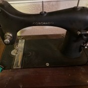 A Coronado treadle sewing machine