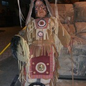A Native American doll.
