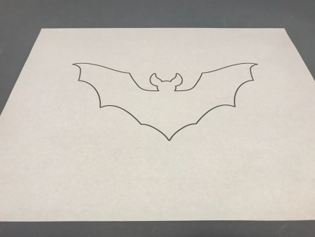 Simple Bat Garland/Bat Wall Decorations - printed bat template