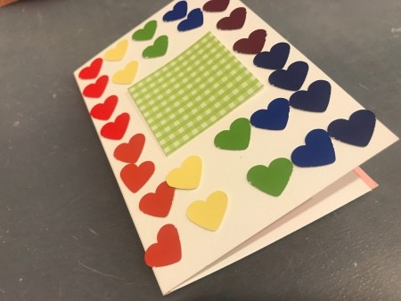 Rainbow Happy Birthday Card - first layout