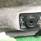 An Intex pump on an air mattress.