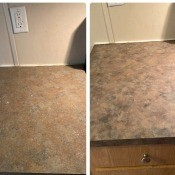 Painting Laminate Countertops? - before and after photo