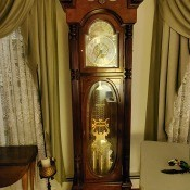 Determining Value of a Howard Miller Grandfather Clock? - clock between two windows