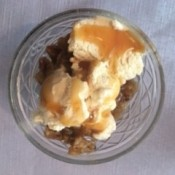 Crockpot Toffee Apple Crisp