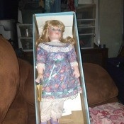 A doll in a box.