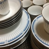 Value of Noritake Dinner Set? - white dinnerware with a blue pattern