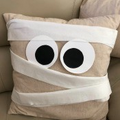 Mummy Decorative Pillow - toilet paper mummy wrapping added
