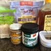 Ingredients for energy bites.