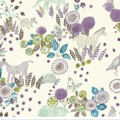 Looking for Waverly Reverie Wallpaper WK6970? - floral and stylized animal paper