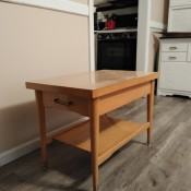 Value of a Mersman Table? - light wood finish end table with one drawer and shelf