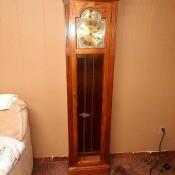 Value of a 1986 Ridgeway Grandfather Clock? - light wood grandfather clock