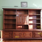 Value of a Möbel Pfister AG - Schweizer Cabinet? - large wooden cabinet with shelves and doored storage spaces