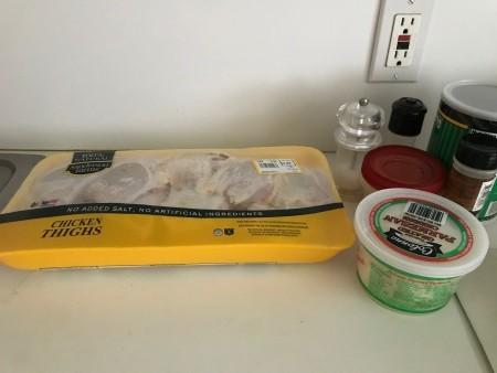 Ingredients for baked chicken with lemon.