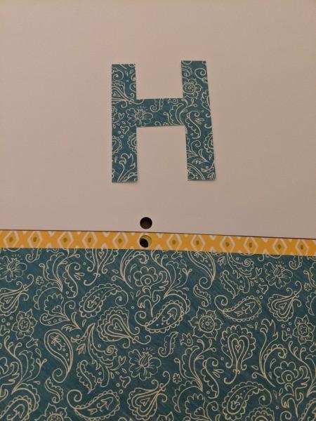 Happy Birthday Cut Letter Banner - paisley H