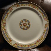 Value of Taylor Smith & Taylor Dinnerware Set? - front of plate showing the described pattern