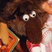 A brown stuffed animal.