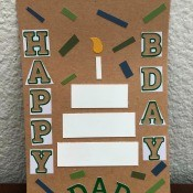Sticker Scrap Happy Birthday Card - completed card