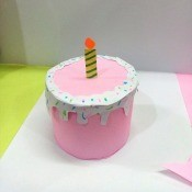 Birthday Cake Gift Box - round birthday cake shaped gift box