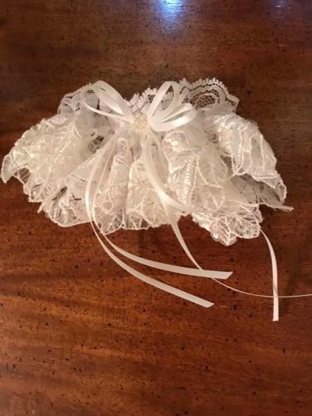 Upcycled Bridal Garter - garter