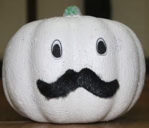 """""""Ghostly"""" Pumpkin - cute finished pumpkin"""