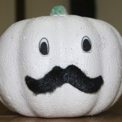 """Ghostly"" Pumpkin - cute finished pumpkin"