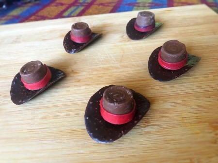 Chocolate Cowboy Hats - edible cowboy hats