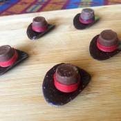 Chocolate Cowboy Hats - edible cowboy hats