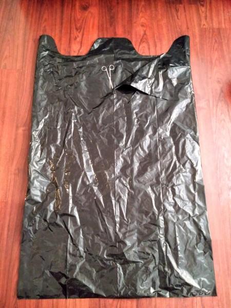 Big Garbage Bag Hanging Haunted House - bag lying flat