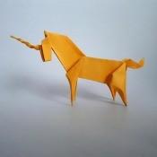 An origami unicorn.