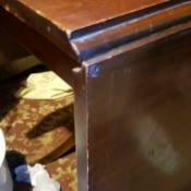 Drop leaf on Brandt table.