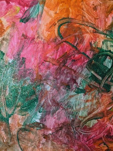 Saturn Hanging Decoration -child's glitter painting