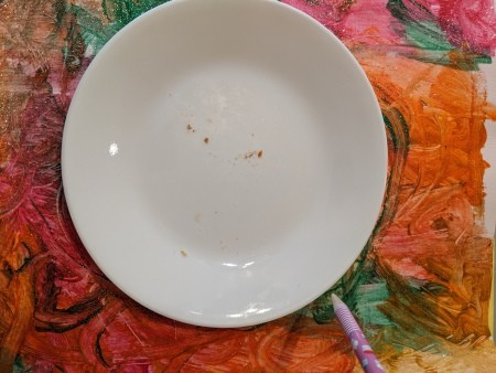 Saturn Hanging Decoration - trace around a plate to make the planet